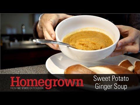 Homegrown | Making Sweet Potato Ginger Soup
