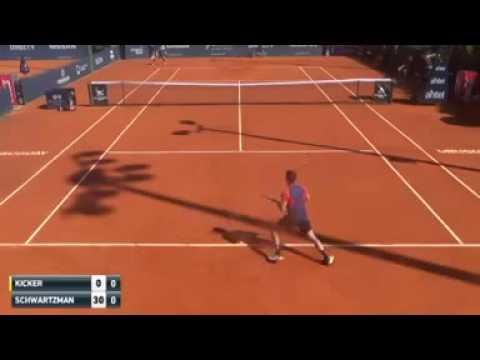 Nicolas Kicker (ARG) vs Diego Schwartzman (ARG)  | Uruguai Open | Challenger Montevideo 2016