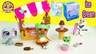 Lalaloopsy Scoops Serves Ice Cream Doll Playset, Disney Frozen Mystery Mini Blind Bag Cookieswirlc