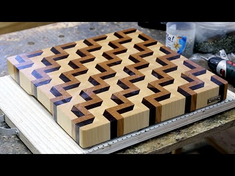 Making A 3d End Grain Cutting Board 3 Youtube