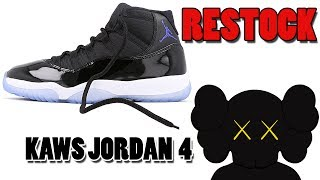 Air Jordan 11 SPACE JAM RESTOCK, KAWS x Jordan 4 BLACK, Jordan 11 Low IE NAVY and More