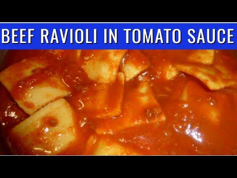 Beef Ravioli in Tomato and Meat Sauce | PinoyAtHeartAdventures