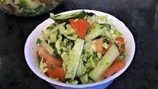 Салат из огурцов,томатов и капусты ./Вкусные салаты ./Овощные салаты ./Как приготовить салат .