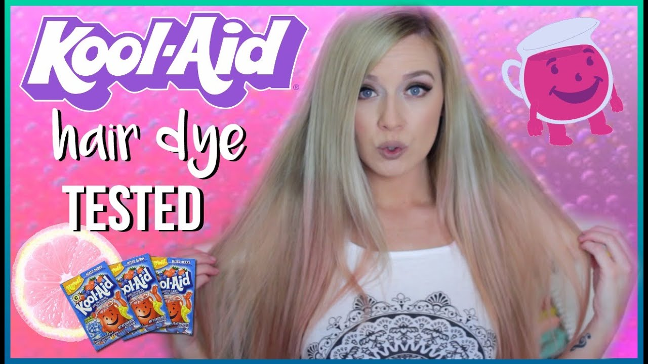 Diy Kool Aid Hair Dye Tested Youtube