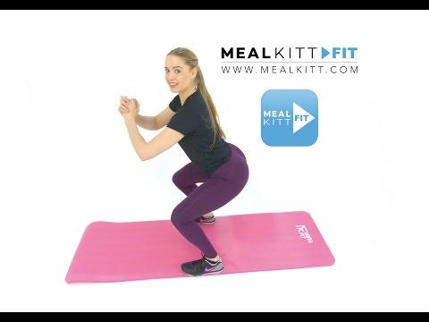 20 Min 200+Cal Burn - Legs & Bum Toning - No Equipment needed www.mealkitt.com