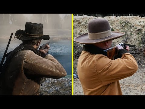 Red Dead Redemption 2 Game vs Real Life Guns Comparison thumbnail