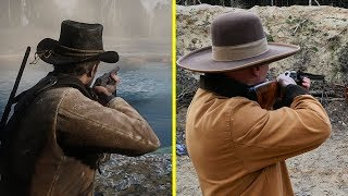 Red Dead Redemption 2 Game vs Real Life Guns Comparison