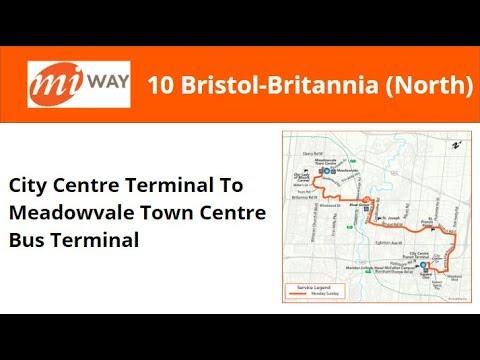 MiWay 2017 NovaBus LFS #17** On 10 Bristol-Britannia (City Centre To Meadowvale - Full)