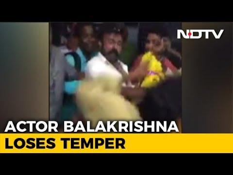 Actor-Politician Balakrishna Caught On Camera Slapping Fan