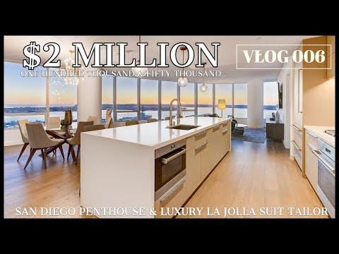 SAN DIEGO ~ EPIC PENTHOUSE TOUR with SPA, MOVIE THEATRE, POOL, GYM and SAUNA!!!  (VLOG 006)
