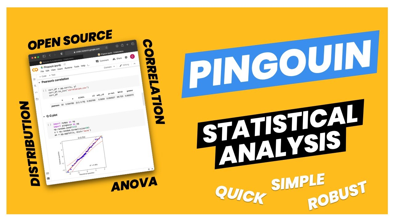 How to easily perform statistical analysis in Python with the Pengouin library