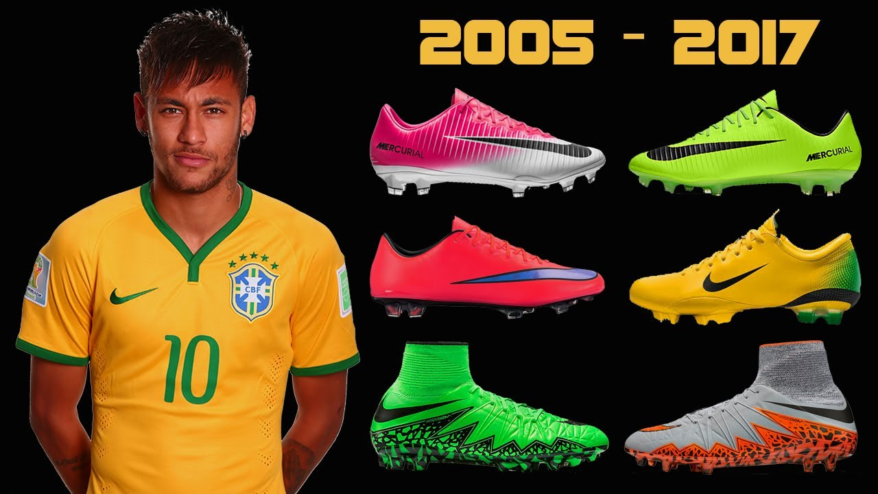 9fa3840b8 The Evolution of Neymar s Boots II 2005 - 2017 II - YouTube