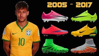 The Evolution of Neymar's Boots II 2005 - 2017 II