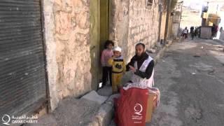 قطر الخيرية توزيع مساعدات الشتاء في سوريا في 2016