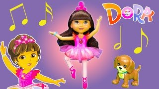 DORA AND FRIENDS Nickelodeon Dora Sparkle and Spin Ballerina Dora Dancing Video Toy Review