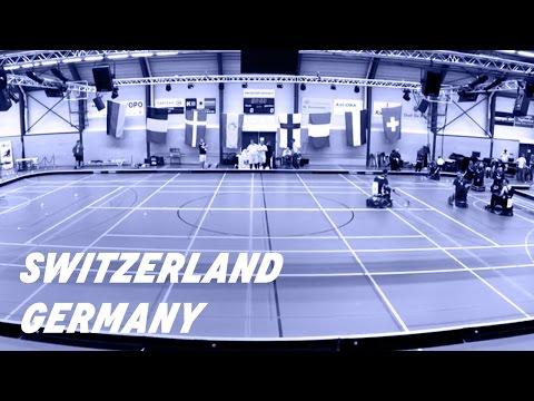 IWAS POWERCHAIR HOCKEY European Championship 2016. SWITZERLAND vs GERMANY