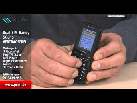 simvalley MOBILE Dual-SIM-Handy SX-315 (Refurbished)