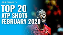 Top 20 ATP Shots & Rallies: February 2020