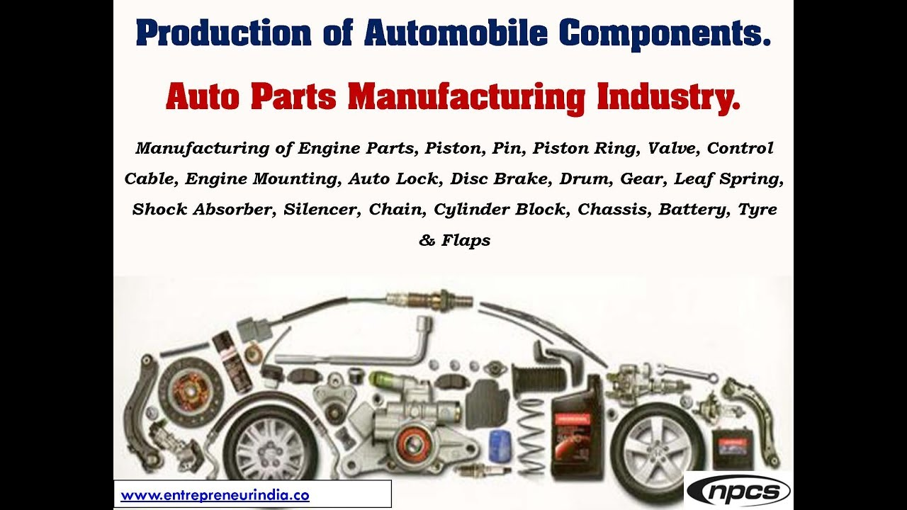 Production of Automobile Components. Auto Parts Manufacturing ...
