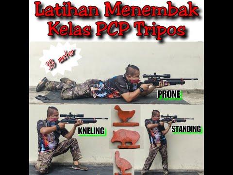 Latihan Menembak Tripos PCP 33 Meter