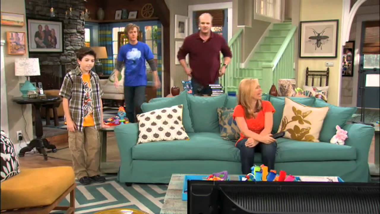 Good luck charlie watching hannah montana