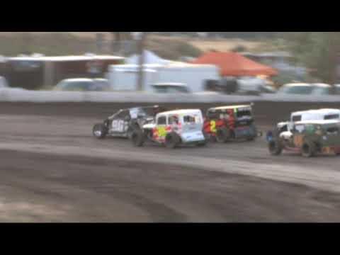 Southern Oregon Dwarf Cars (SODCA) at SO. Speedway 8/3/19 Heat 3