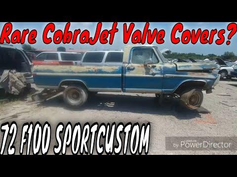 1972 Ford F100 Sport Custom Explorer Junkyard Find