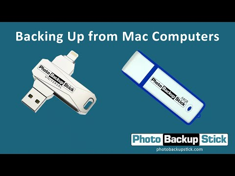 <strong>Backing Up from Mac Computers</strong><br>How to back up photos and videos from Mac computers and laptops using your Photo Backup Stick.