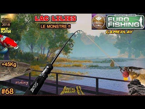 EURO FISHING LILIES GAMEPLAY #68 GROS SILURES 45 Kg NOUVEAU LAC  POISSON BOSS PÊCHE DE LA CARPE 2018