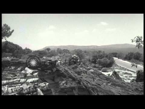 A US Army ammunition dump with a camouflage netting in Beirut, Lebanon during the...HD Stock Footage