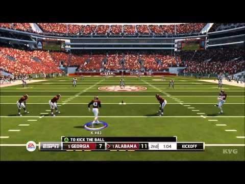 NCAA Football 14  Georgia vs. Alabama Gameplay HD