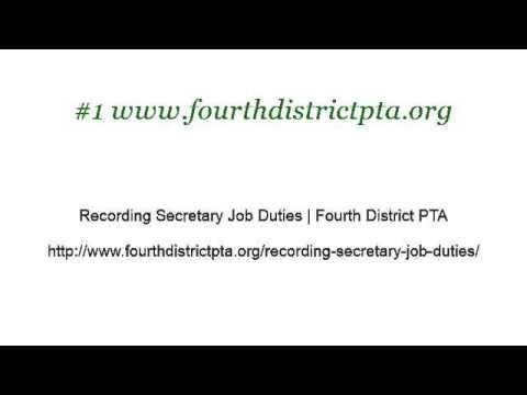 District Treasurer Job Description - YouTube