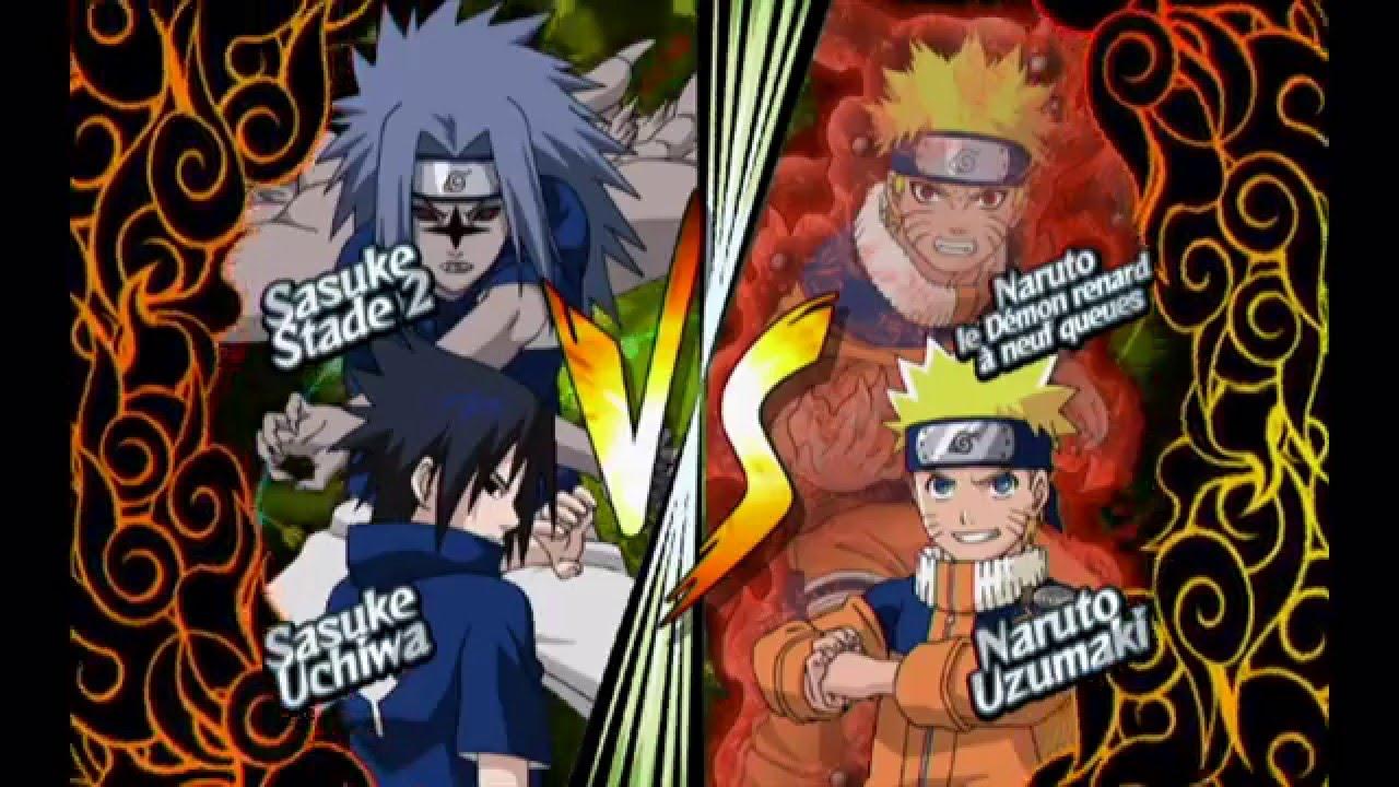 Naruto Clash of Ninja Revolution 2  Wii  Sasuke Vs Naruto  YouTube