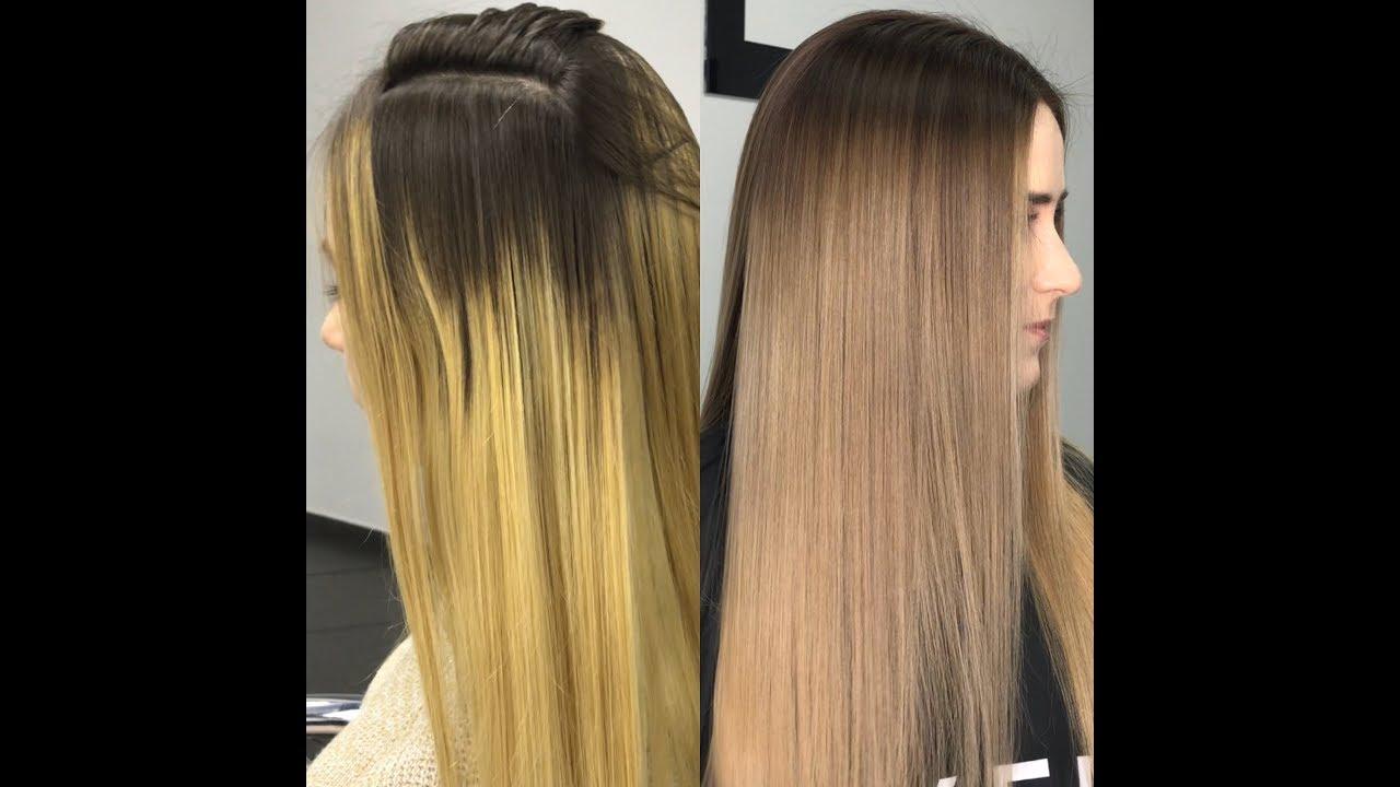 Как убрать зеленый оттенок с волос после неудачного окрашивания
