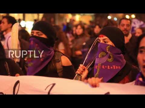 Chile: Thousands denounce violence against women in Santiago *EXPLICIT*