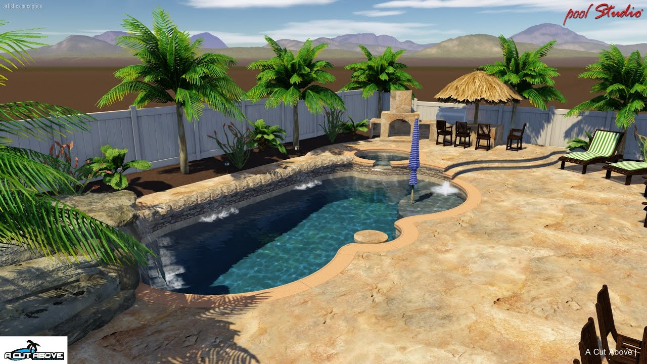 A cut above pools 3d pool studio design jacobsen youtube for Pool design studio