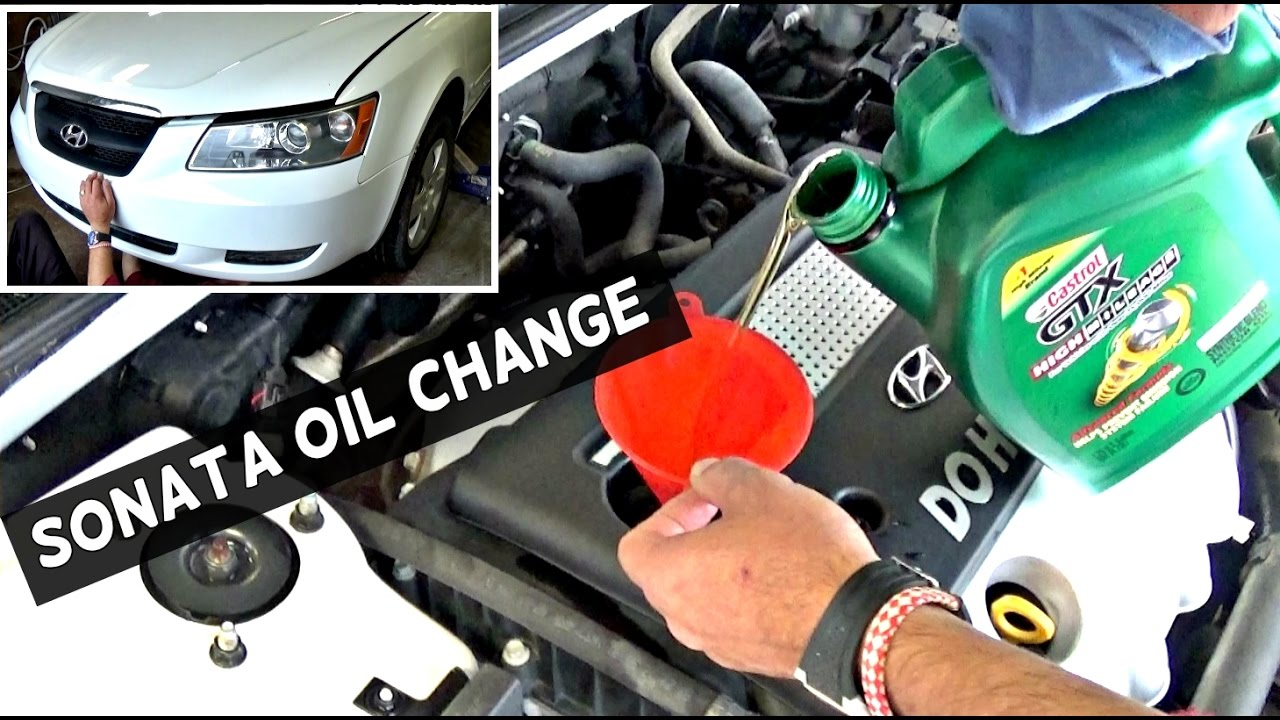 Hyundai Sonata Oil Change 2 4 2005 2006 2007 2008 2009 2010