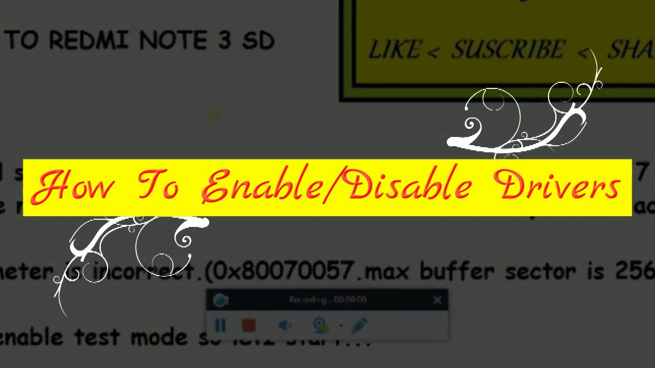 Enable/Disable test mode in Windows 7/8/8.1/10 - YouTube