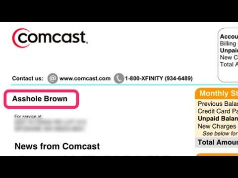 "Comcast Renames Disgruntled Customer ""Asshole Brown"""