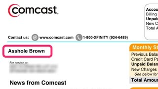 "Comcast Renames Disgruntled Customer ""Asshole Brown"""