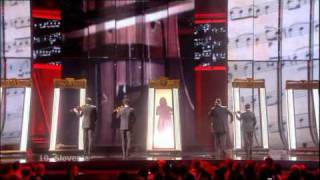Eurovision 2009 Semi Final 2 10 Slovenia *Quartissimo feat. Martina* *Love Symphony* 16:9 HQ