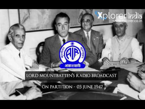 Lord Mountbatten | Broadcast on Partition - 04 June 1947 (With Subtitles)