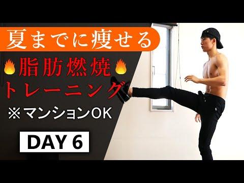 【夏までに痩せる】14分の脂肪燃焼トレーニング // 1週間ルーティン6日目