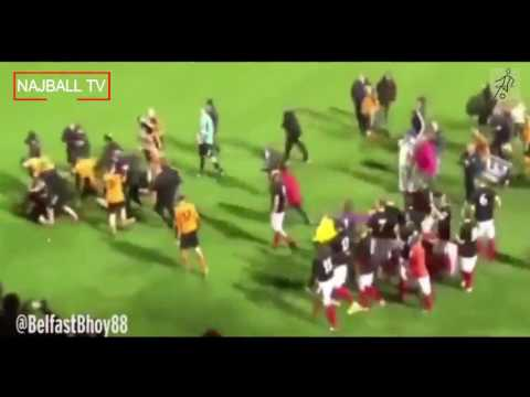 FIGHT BREAKS OUT BETWEEN SUFFOLK FC AND WOODVALE FC 2017