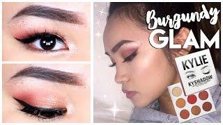 Burgundy Glam Makeup Tutorial Ft. Kylie Jenner The Burgundy Palette ✘ Lisa Phan
