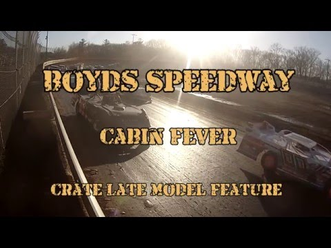 Crate Late Model Track Cam / Boyds Speedway Cabin Fever / Jan 30 , 2016