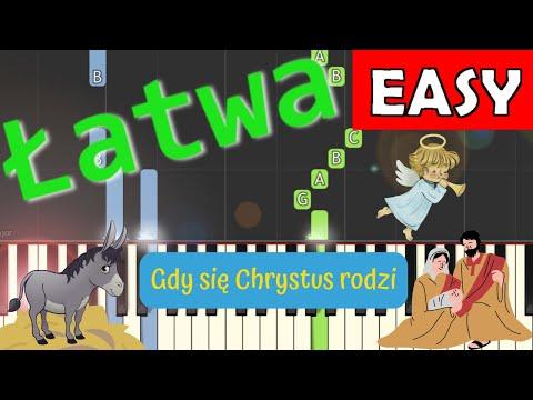 🎹 Gdy się Chrystus rodzi - Piano Tutorial (łatwa wersja) 🎹