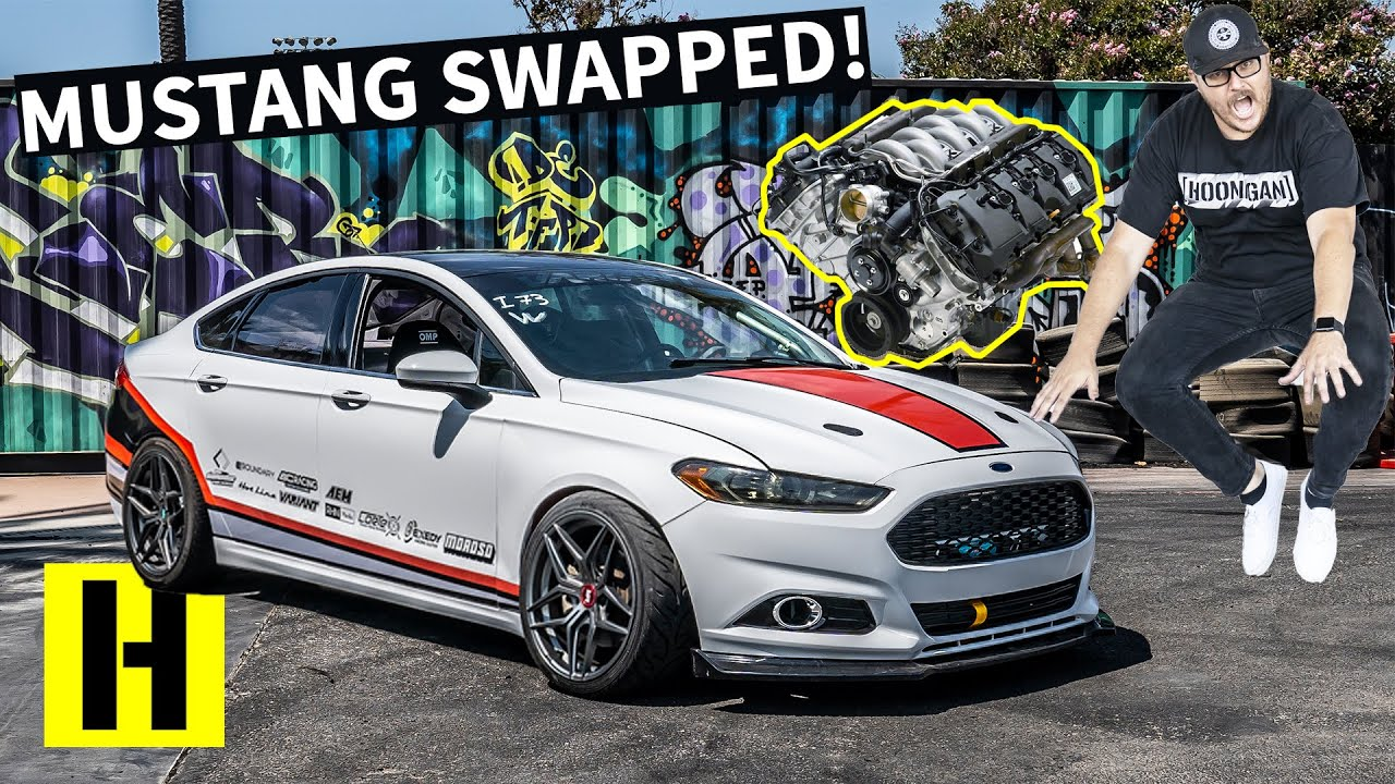 Mustang-Swapped Ford Fusion?? 5.0 Coyote V8 in a Sleeper Sedan image