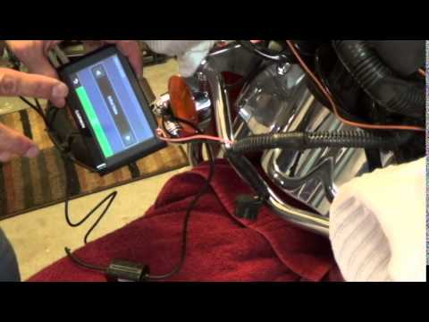 how to hard wire a gps into a harley davidson electra glide youtube rh youtube com Harley-Davidson Garmin GPS Garmin GPS for Harley