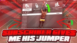 SUBSCRIBER GIVES ME HIS JUMPSHOT IN NBA 2K19 • BEST JUMPSHOT IN NBA 2K19?